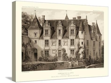 Petite Sepia Chateaux III-Victor Petit-Stretched Canvas Print