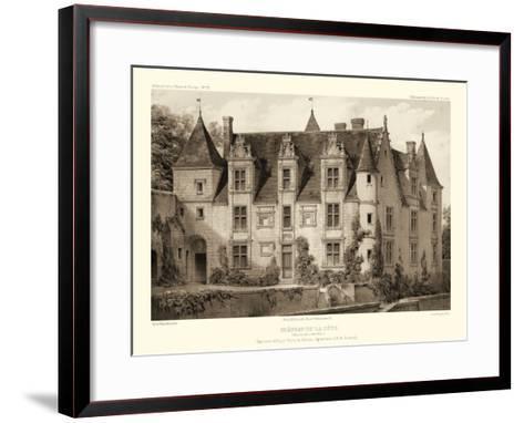 Petite Sepia Chateaux III-Victor Petit-Framed Art Print