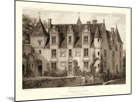 Petite Sepia Chateaux III-Victor Petit-Mounted Art Print