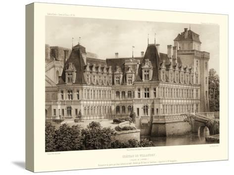 Petite Sepia Chateaux IV-Victor Petit-Stretched Canvas Print