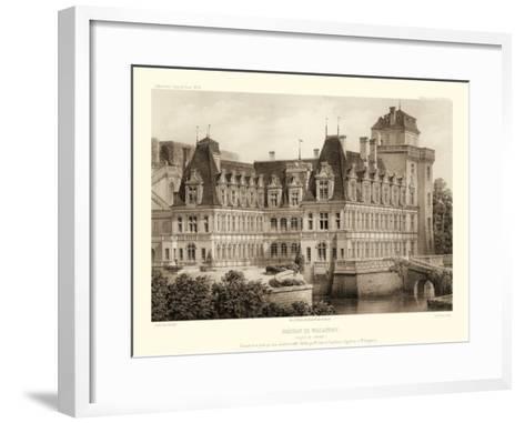 Petite Sepia Chateaux IV-Victor Petit-Framed Art Print