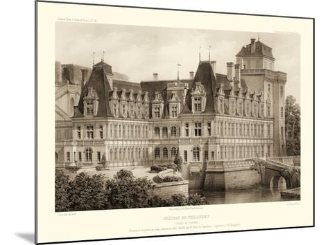 Petite Sepia Chateaux IV-Victor Petit-Mounted Art Print