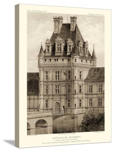 Petite Sepia Chateaux VIII-Victor Petit-Stretched Canvas Print