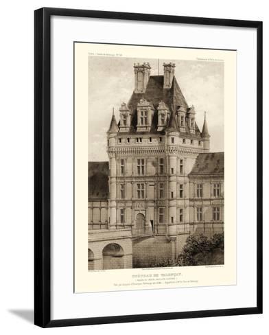 Petite Sepia Chateaux VIII-Victor Petit-Framed Art Print