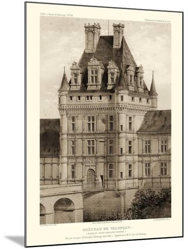 Petite Sepia Chateaux VIII-Victor Petit-Mounted Art Print