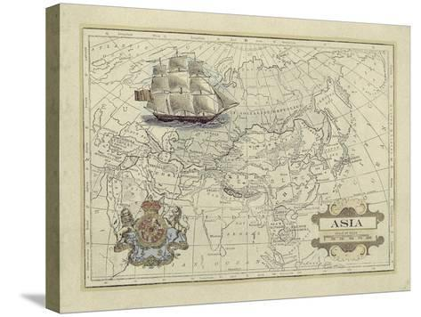 Antique Map of Asia-Vision Studio-Stretched Canvas Print