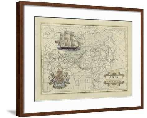 Antique Map of Asia-Vision Studio-Framed Art Print