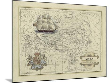 Antique Map of Asia-Vision Studio-Mounted Art Print