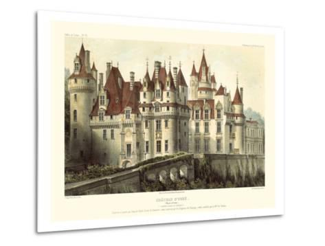 Petite French Chateaux VII-Victor Petit-Metal Print
