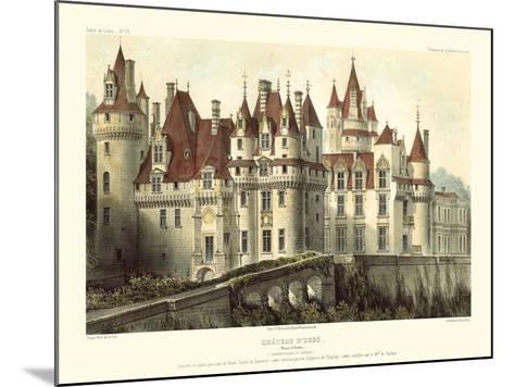 Petite French Chateaux VII-Victor Petit-Mounted Art Print
