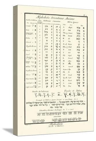 Alphabets Orientaux-Denis Diderot-Stretched Canvas Print