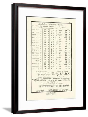 Alphabets Orientaux-Denis Diderot-Framed Art Print