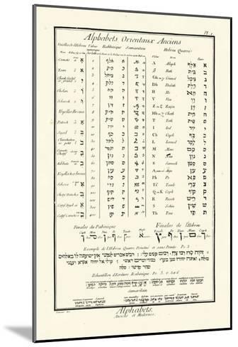 Alphabets Orientaux-Denis Diderot-Mounted Art Print