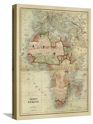 Antique Map of Africa-Alvin Johnson-Stretched Canvas Print