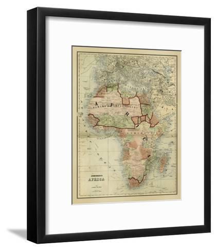 Antique Map of Africa-Alvin Johnson-Framed Art Print