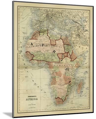 Antique Map of Africa-Alvin Johnson-Mounted Art Print