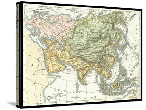 Asian Map--Stretched Canvas Print