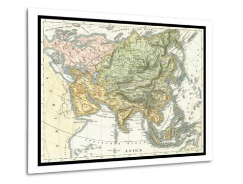 Asian Map--Metal Print