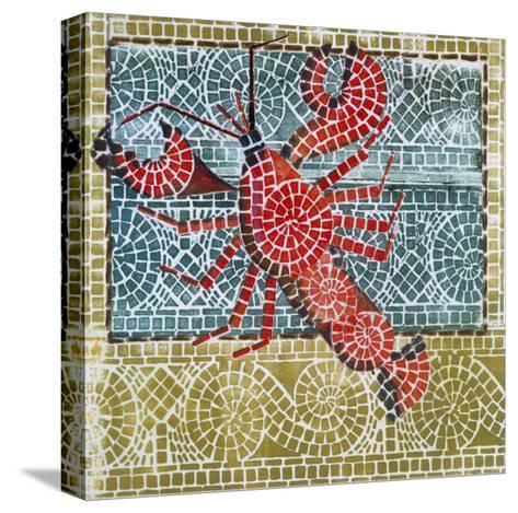 Mosaic Lobster-Susan Gillette-Stretched Canvas Print