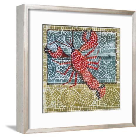 Mosaic Lobster-Susan Gillette-Framed Art Print