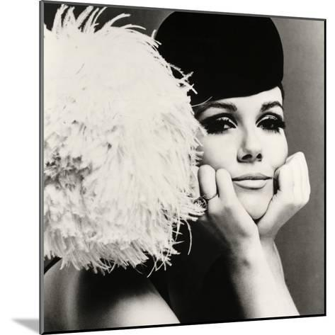 Nicole de la Marge in a Peter Shepherd Velvet Cap, 1965-John French-Mounted Giclee Print