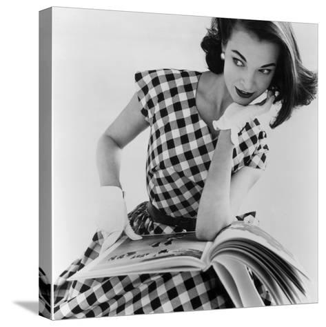 Helen Bunney in a Dress by Blanes, 1957-John French-Stretched Canvas Print