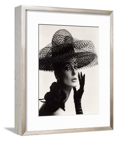 Tania Mallet in a Madame Paulette Stiffened Net Picture Hat, 1963-John French-Framed Art Print