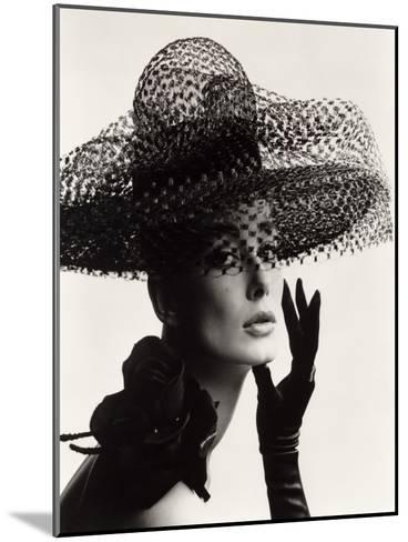 Tania Mallet in a Madame Paulette Stiffened Net Picture Hat, 1963-John French-Mounted Giclee Print