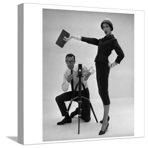 John French and and Daphne Abrams in a Tailored Suit, 1957-John French-Stretched Canvas Print