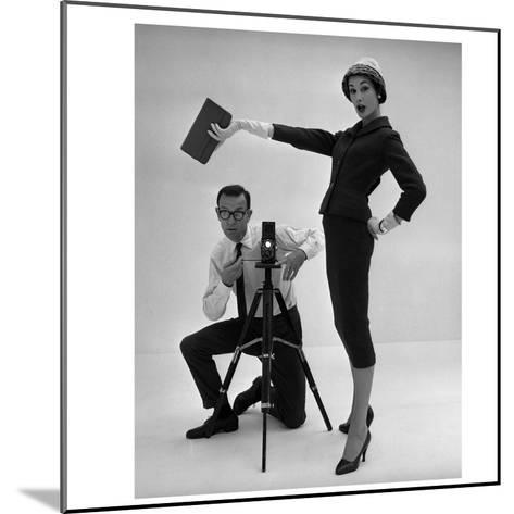 John French and and Daphne Abrams in a Tailored Suit, 1957-John French-Mounted Giclee Print