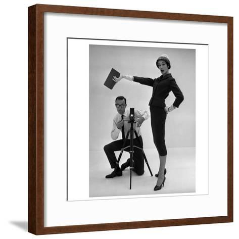 John French and and Daphne Abrams in a Tailored Suit, 1957-John French-Framed Art Print
