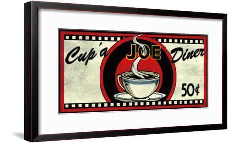 Cup 'a Joe Diner-Kate Ward Thacker-Framed Art Print