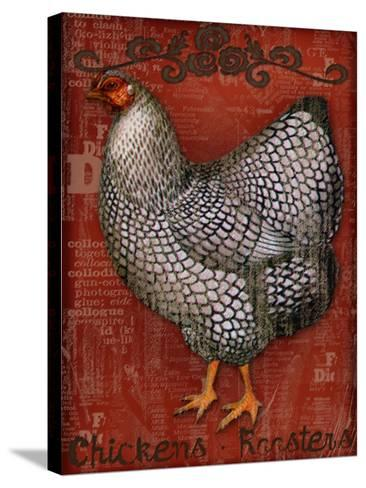 Chickens & Roosters-Kate Ward Thacker-Stretched Canvas Print