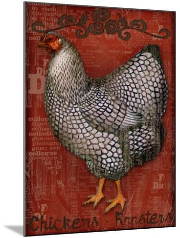 Chickens & Roosters-Kate Ward Thacker-Mounted Giclee Print