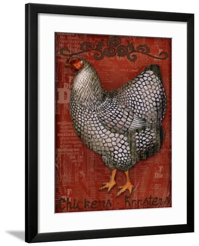 Chickens & Roosters-Kate Ward Thacker-Framed Art Print