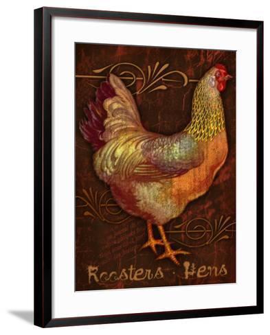Roosters & Hens-Kate Ward Thacker-Framed Art Print