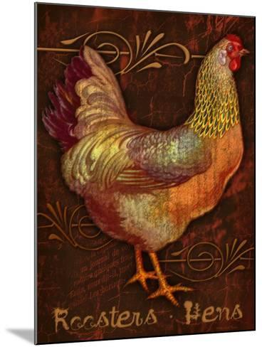 Roosters & Hens-Kate Ward Thacker-Mounted Giclee Print