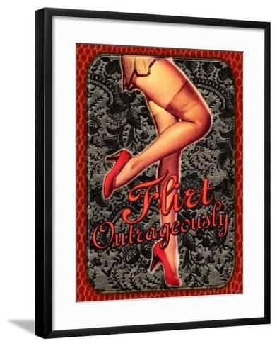 Flirt Outrageously-Kate Ward Thacker-Framed Art Print