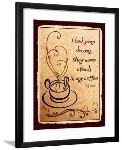 Clouds in my Coffee-Kate Ward Thacker-Framed Art Print