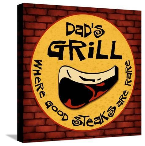 Dad's Grill-Kate Ward Thacker-Stretched Canvas Print