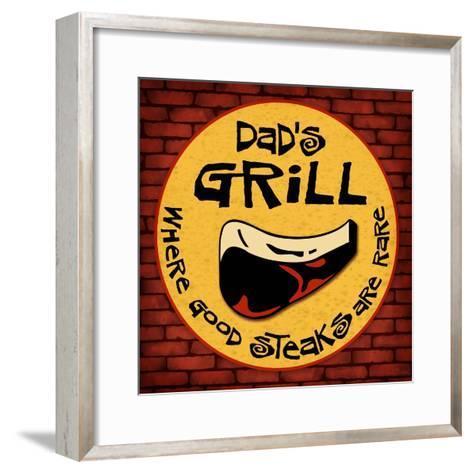 Dad's Grill-Kate Ward Thacker-Framed Art Print