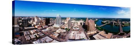360 Degree View of a City, Austin, Travis County, Texas, USA--Stretched Canvas Print