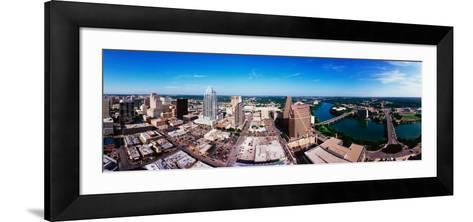360 Degree View of a City, Austin, Travis County, Texas, USA--Framed Art Print