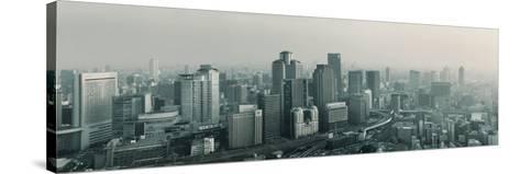Buildings in a City, Osaka, Osaka Prefecture, Kansai Region, Japan--Stretched Canvas Print