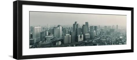 Buildings in a City, Osaka, Osaka Prefecture, Kansai Region, Japan--Framed Art Print