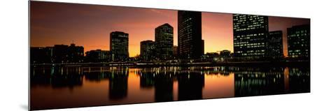 Buildings Lit Up at Dusk, Oakland, Alameda County, California, USA--Mounted Photographic Print