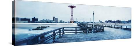 City in Winter, Coney Island, Brooklyn, New York City, New York State, USA--Stretched Canvas Print