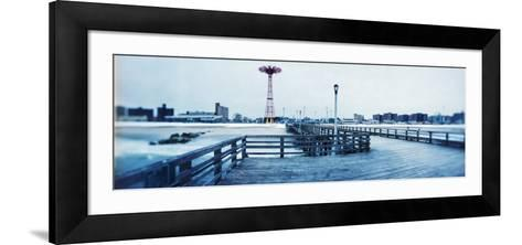 City in Winter, Coney Island, Brooklyn, New York City, New York State, USA--Framed Art Print
