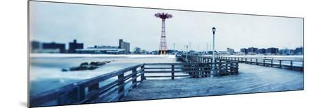 City in Winter, Coney Island, Brooklyn, New York City, New York State, USA--Mounted Photographic Print
