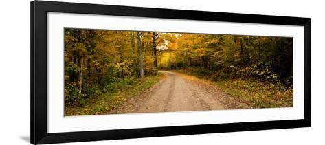 Dirt Road Passing Through a Forest, New Hampshire, USA--Framed Art Print